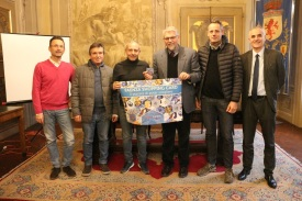 Commercianti del Consorzio Faenza C'entro con Sergio Scipi, Giovanni Malpezzi ed Emanuele Tarroni