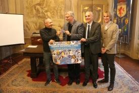 Da sinistra Sergio Scipi, Giovanni Malpezzi, Emanuele Tarroni, Fabrizio Boschetti